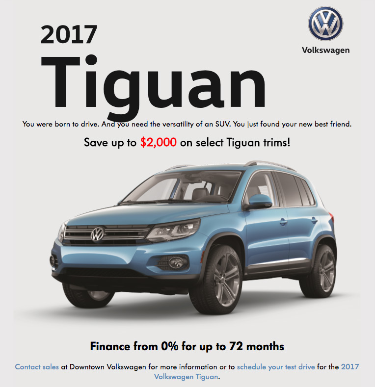 Dealer Offers - Downtown Volkswagen